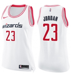 Women's Nike Washington Wizards #23 Michael Jordan Swingman White/Pink Fashion NBA Jersey