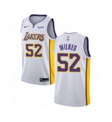 Men's Los Angeles Lakers #52 Jamaal Wilkes Authentic White Basketball Jersey - Association Edition