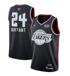 Men's Nike Los Angeles Lakers #24 Kobe Bryant Black Basketball Jordan Swingman 2019 All-Star Game Jersey