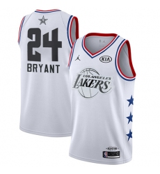 Men's Nike Los Angeles Lakers #24 Kobe Bryant White Basketball Jordan Swingman 2019 All-Star Game Jersey