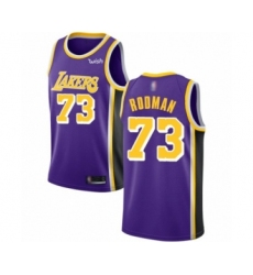 Men's Los Angeles Lakers #73 Dennis Rodman Authentic Purple Basketball Jerseys - Icon Edition