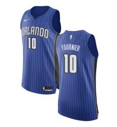 Men's Nike Orlando Magic #10 Evan Fournier Authentic Royal Blue Road NBA Jersey - Icon Edition