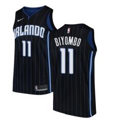 Men's Nike Orlando Magic #11 Bismack Biyombo Swingman Black Alternate NBA Jersey Statement Edition