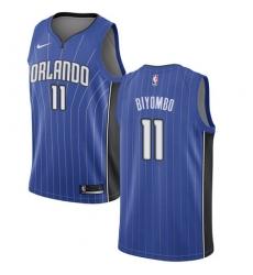 Men's Nike Orlando Magic #11 Bismack Biyombo Swingman Royal Blue Road NBA Jersey - Icon Edition