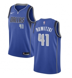 Men's Nike Dallas Mavericks #41 Dirk Nowitzki Swingman Royal Blue Road NBA Jersey - Icon Edition