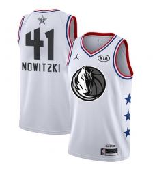 Men's Nike Dallas Mavericks #41 Dirk Nowitzki White NBA Jordan Swingman 2019 All-Star Game Jersey