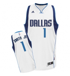 Women's Adidas Dallas Mavericks #1 Dennis Smith Jr. Swingman White Home NBA Jersey