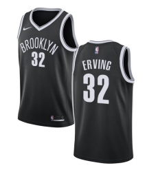 Men's Nike Brooklyn Nets #32 Julius Erving Swingman Black Road NBA Jersey - Icon Edition