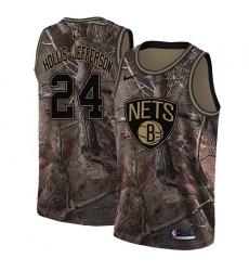 Men's Nike Brooklyn Nets #24 Rondae Hollis-Jefferson Camo NBA Swingman Realtree Collection Jersey