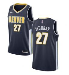 Men's Nike Denver Nuggets #27 Jamal Murray Swingman Navy Blue Road NBA Jersey - Icon Edition