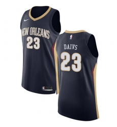 Men's Nike New Orleans Pelicans #23 Anthony Davis Authentic Navy Blue Road NBA Jersey - Icon Edition
