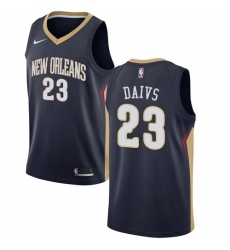 Men's Nike New Orleans Pelicans #23 Anthony Davis Swingman Navy Blue Road NBA Jersey - Icon Edition