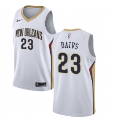 Men's Nike New Orleans Pelicans #23 Anthony Davis Swingman White Home NBA Jersey - Association Edition