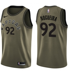 Youth Nike Toronto Raptors #92 Lucas Nogueira Swingman Green Salute to Service NBA Jersey