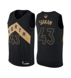 Men's Toronto Raptors #43 Pascal Siakam Swingman Black 2019 Basketball Finals Bound Jersey - City Edition