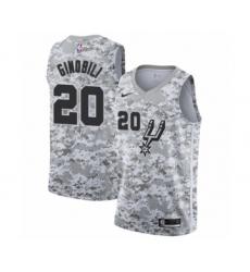 Men's San Antonio Spurs #20 Manu Ginobili White Swingman Jersey - Earned Edition