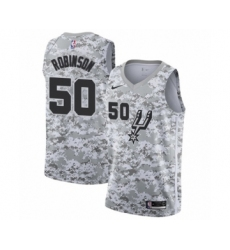 Men's San Antonio Spurs #50 David Robinson White Swingman Jersey - Earned Edition