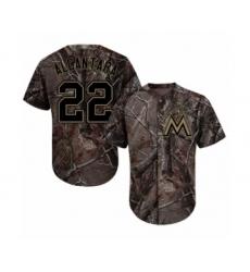 Men's Miami Marlins #22 Sandy Alcantara Authentic Camo Realtree Collection Flex Base Baseball Jersey
