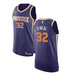 Men's Nike Phoenix Suns #32 Shaquille O'Neal Authentic Purple Road NBA Jersey - Icon Edition