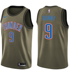 Men's Nike Oklahoma City Thunder #9 Jerami Grant Swingman Green Salute to Service NBA Jersey