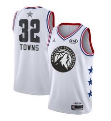 Men's Nike Minnesota Timberwolves #32 Karl-Anthony Towns White NBA Jordan Swingman 2019 All-Star Game Jersey
