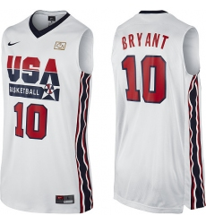 Men's Nike Team USA #10 Kobe Bryant Authentic White 2012 Olympic Retro Basketball Jersey