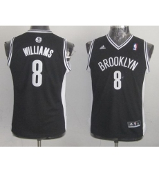 Nets #8 Deron Williams Black Stitched Youth NBA Jersey