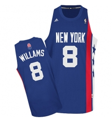 Nets #8 Deron Williams Blue ABA Hardwood Classic Stitched NBA Jersey