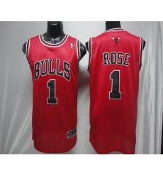 Revolution 30 Bulls #1 Derrick Rose Red Stitched NBA Jerseyey