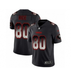 Men San Francisco 49ers #80 Jerry Rice Black Smoke Fashion Limited Jersey