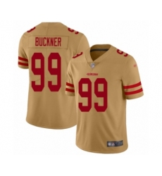 Men's San Francisco 49ers #99 DeForest Buckner Limited Gold Inverted Legend Football Jersey