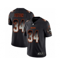 Men Chicago Bears #34 Walter Payton Black Smoke Fashion Limited Jersey