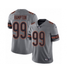 Men's Chicago Bears #99 Dan Hampton Limited Silver Inverted Legend Football Jersey