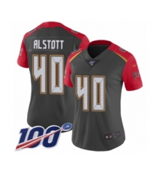 Women's Tampa Bay Buccaneers #40 Mike Alstott Limited Gray Inverted Legend 100th Season Football Jersey