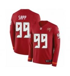Men's Nike Tampa Bay Buccaneers #99 Warren Sapp Limited Red Therma Long Sleeve NFL Jersey