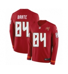 Men's Nike Tampa Bay Buccaneers #84 Cameron Brate Limited Red Therma Long Sleeve NFL Jersey
