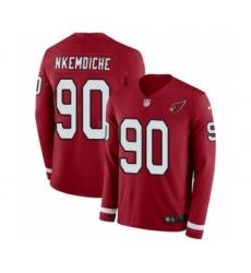 Men's Nike Arizona Cardinals #90 Robert Nkemdiche Limited Red Therma Long Sleeve NFL Jersey
