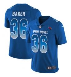 Youth Nike Arizona Cardinals #36 Budda Baker Limited Royal Blue 2018 Pro Bowl NFL Jersey