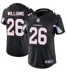 Women's Nike Arizona Cardinals #26 Brandon Williams Black Alternate Vapor Untouchable Limited Player NFL Jersey