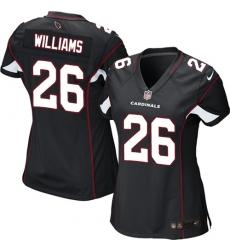 Women's Nike Arizona Cardinals #26 Brandon Williams Game Black Alternate NFL Jersey
