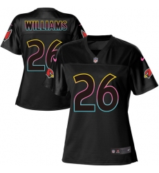 Women's Nike Arizona Cardinals #26 Brandon Williams Game Black Fashion NFL Jersey