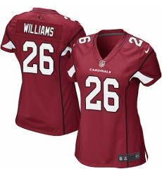 Women's Nike Arizona Cardinals #26 Brandon Williams Game Red Team Color NFL Jersey