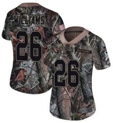 Women's Nike Arizona Cardinals #26 Brandon Williams Limited Camo Rush Realtree NFL Jersey