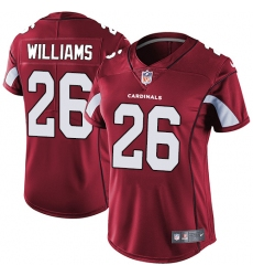 Women's Nike Arizona Cardinals #26 Brandon Williams Red Team Color Vapor Untouchable Limited Player NFL Jersey