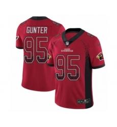 Men's Nike Arizona Cardinals #95 Rodney Gunter Limited Red Rush Drift Fashion NFL Jersey