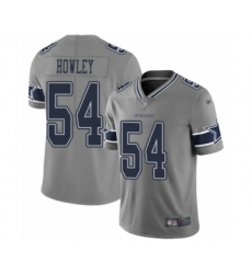 Men's Dallas Cowboys #54 Chuck Howley Limited Gray Inverted Legend Football Jersey