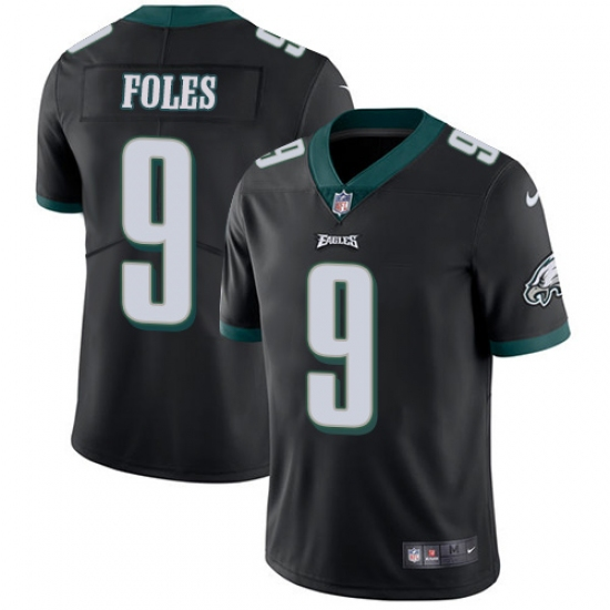 Men's Nike Philadelphia Eagles #9 Nick Foles Black Alternate Vapor Untouchable Limited Player NFL Jersey
