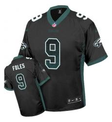 Men's Nike Philadelphia Eagles #9 Nick Foles Limited Black Drift Fashion NFL Jersey