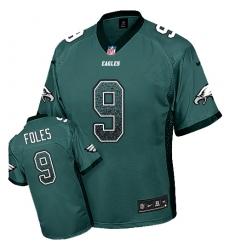 Men's Nike Philadelphia Eagles #9 Nick Foles Limited Midnight Green Drift Fashion NFL Jersey