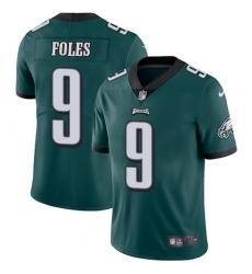 Men's Nike Philadelphia Eagles #9 Nick Foles Midnight Green Team Color Vapor Untouchable Limited Player NFL Jersey